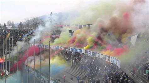 ultras atalanta great pyroshow curva nord youtube