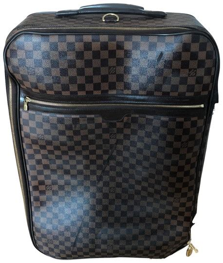 Louis Vuitton Cowhide Leather Bag by Louis Vuitton Pegase 60 Damier Chocolate Brown Cowhide