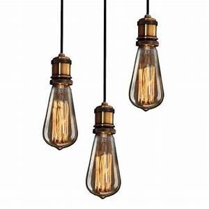 Suspension Ampoule Vintage : purelume ampoule vintage laiton vieilli pendeleuchte lampe suspension filament edison 40 w e27 ~ Dode.kayakingforconservation.com Idées de Décoration