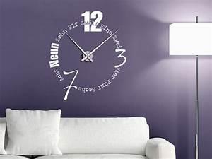 Designer Uhr Wand : wandtattoo uhr mit buchstaben und w rtern bei ~ Michelbontemps.com Haus und Dekorationen