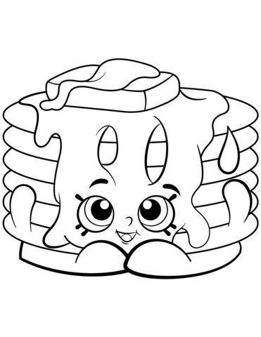 Pamela Pancake Shopkin coloring page Free Printable
