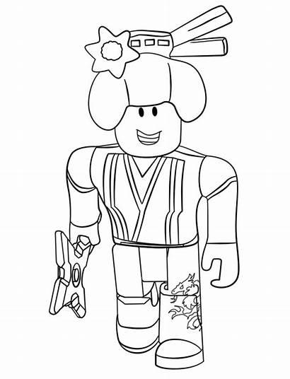Coloring Roblox Ninja Printable Noob Render Colorear