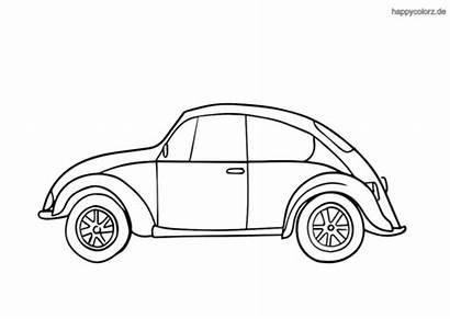 Classic Coloring Ausmalbilder Autos Kaefer Beetle Cars
