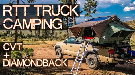 ULTIMATE Truck Roof Top Tent Camping   CVT on DiamondBack