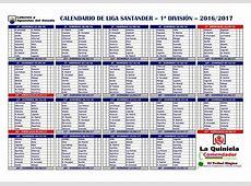 calendario liga santander 2017 4 Printable 2018
