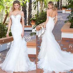 custom made wedding dresses new arrival 2017 sweetheart wedding dresses beaded ruffles pleated organza mermaid wedding