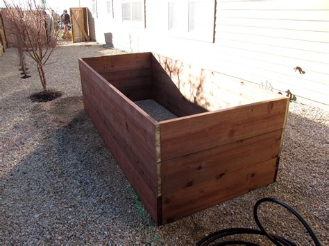 elevated planter box building a planter box for vegetables home improvement