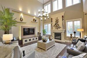 Living room high ceiling decoration for with
