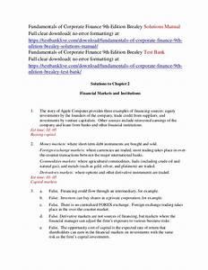 Fundamentals Of Corporate Finance 9th Edition Brealey Pdf