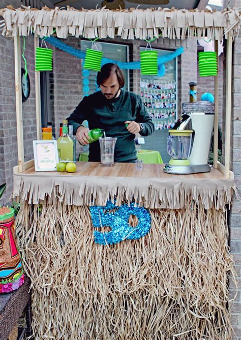 diy party simple tiki bar top gray house studio blog