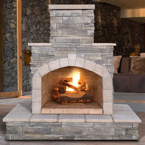 outdoor propane fireplace calflame propane gas outdoor fireplace