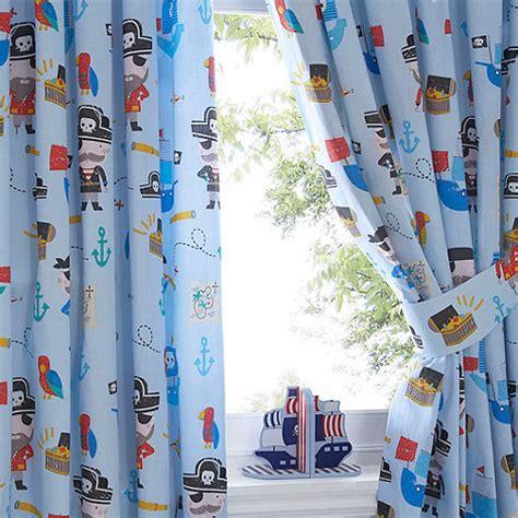 bluezoo kids pirates pair  curtains debenhams
