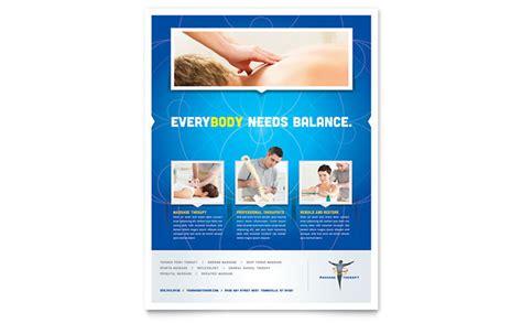 reflexology massage flyer template design