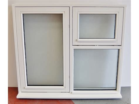 obscure glass white flush casement wooden timber window xmm