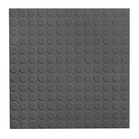 Roppe Rubber Tile 900 Series by Roppe Low Circular Profile 19 69 In X 19 69 In Charcoal