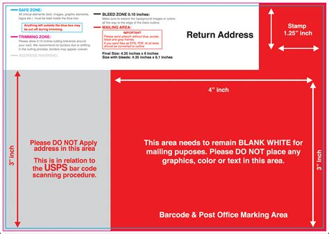 Usps Postcard Template 6 Best Images Of Usps 4 X 6 Postcard Template 4x6