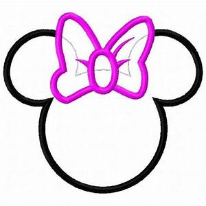 minnie mouse bow cutouts minnie mouse bow cut out clipart With minnie mouse cut out template