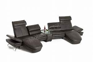 Pm Polstermöbel Oelsa : san diego von pm oelsa ledergarnitur grey mit glasablage sofas couches online kaufen ~ Markanthonyermac.com Haus und Dekorationen