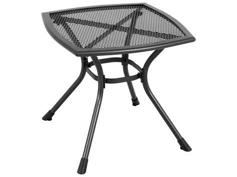 sunvilla monaco steel mesh 20 square end table in black