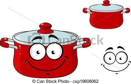 dessin casserole cuisine clip vecteur de peu rouges dessin animé cuisine