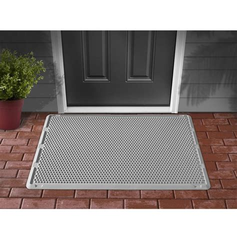 outdoor door mat weathertech outdoor door mat 76x122 cm grey odm2g vidaxl