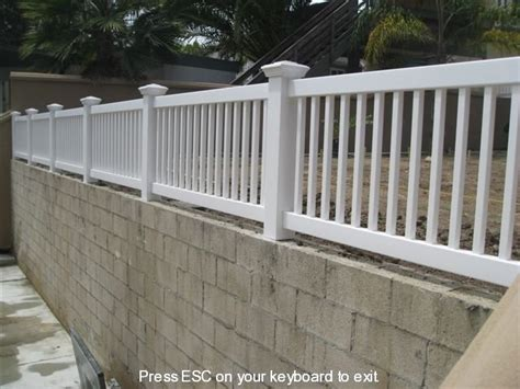 railing gallery showtime vinyl fence patio cover