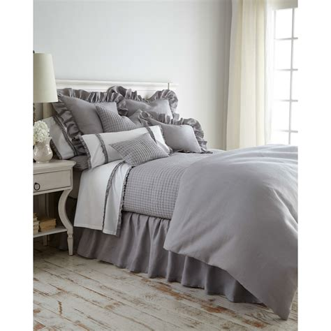amity home bedding basillo duvet cover platinum grey