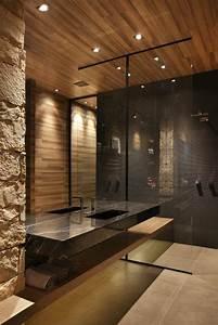idee decoration salle de bain deco salle de bain zen With salle de bain bois et pierre