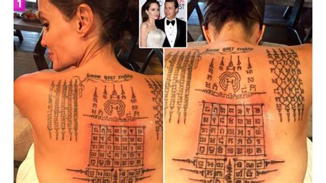 Thai Monk Gives Angelina Jolie Painful Tattoos 'binding