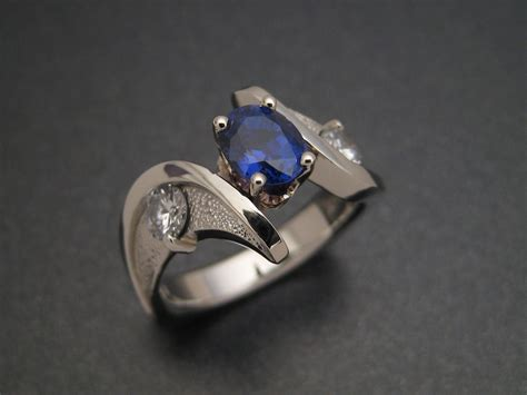 custom ring design crafted sapphire wedding ring by sculpted jewelry