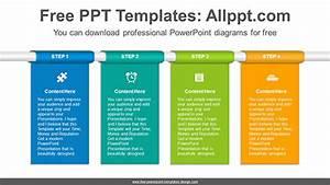 Vertical Banner Flow Powerpoint Diagram Template
