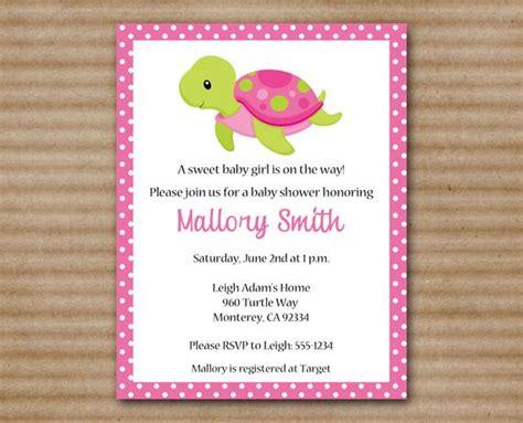 turtle baby shower invitations printable sea turtle baby shower invitation by