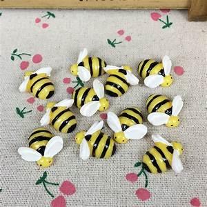 10 Pieces Flat Back Resin Cabochon Animal Bee DIY Flatback
