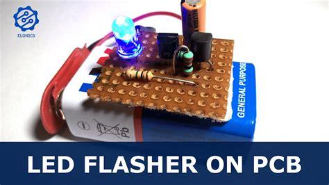 Flashing Led Circuit Using Transistors Pcb Basic