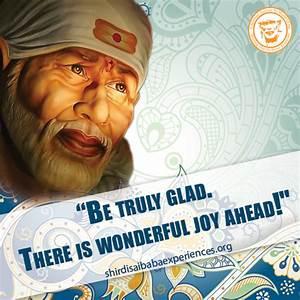 Be Truly Glad -... Shirdi Sai Motivational Quotes