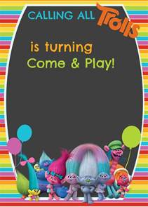 party invitations templates free trolls digital invitation how to make with