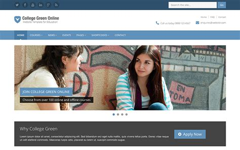 college green education bootstrap template