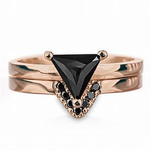 triangle black diamond ring point no point studio With triangle wedding ring