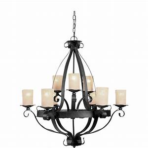 Shandy light natural iron chandelier at lowes