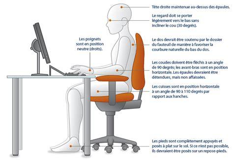 bonne position bureau une bonne posture assise