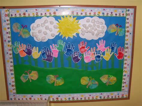 Preschool Spring Bulletin Board