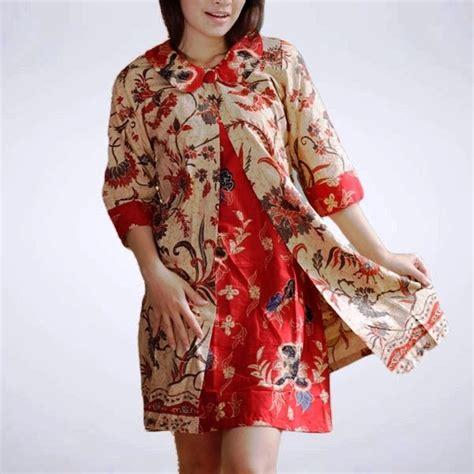 model baju gamis batik terbaru populer  model