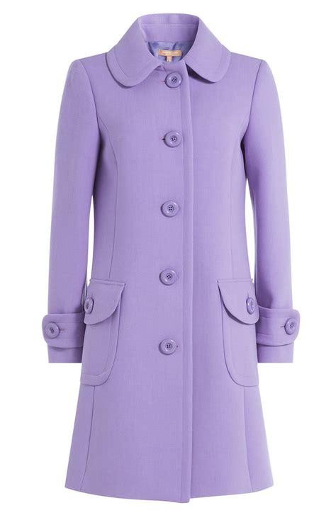 woolen plain coat purple wool coats han coats