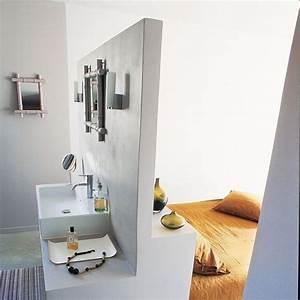 Petite Salle De Bain Ouverte Sur Chambre : une salle de bains dans la chambre les 9 id es suivre c t maison ~ Melissatoandfro.com Idées de Décoration