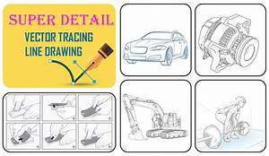 Draw Product Diagram Manual User Guide In Vector Line Art