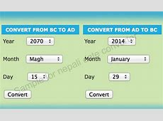 Nepali Date Converter ⏰ Nepali date to english and english
