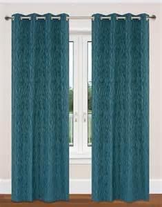 Teal Blue Curtain Grommet Panel