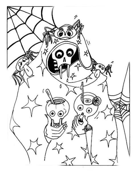 halloween coloring pages june