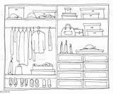 Closet Clipart Ouverte Armoire Open Wardrobe Clipground sketch template