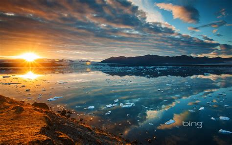 glacial lagoon hd wallpaper background image id